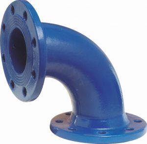 Kolano dwukołnierzowe Q kształtka (kształtki) wodociągowa żeliwna
