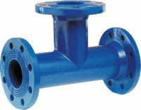 Pipe tee T flanged