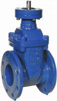 PN16 flange valve wedge destined for electromechanical drive