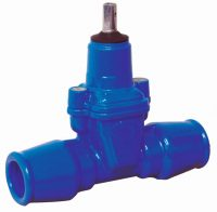 PN10 valve wedge with ISO terminals for PE pipes