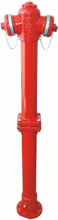 hydrant nadziemny zabezpieczony w przypadku złamania