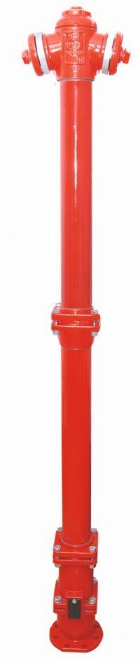 Hydrant z podwójnym zamknięciem i zabezpieczeniem w przypadku złamania AKWA