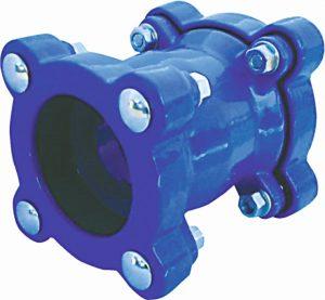 złącze rurowe armatura naprawcza w kolorze niebieskimAKWA