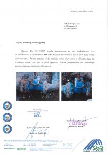 Referencje na zasuwę kołnierzową z Chorzowa dla firmy AKWA