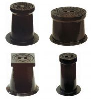 Cast iron boxes for plumbing fittings