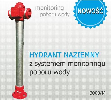 hydrant nadziemny z monitoringiem poboru wody zabezpieczający przed poborem wody przez osoby niuprawnione AKWA